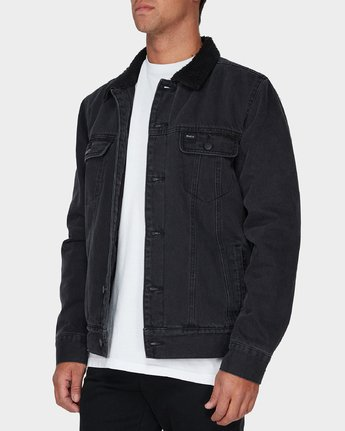 1 Daggers Denim Sherpa Jacket Black R183445 RVCA