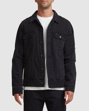 RVCA DISTRESSED DENIM JACKET  R183446