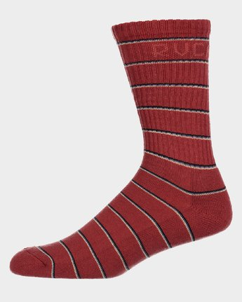 1 RVCA Stripes Sock  R183605 RVCA