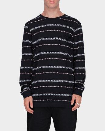 0 Oblow Rose Stripe Long Sleeve T-Shirt  R184097 RVCA