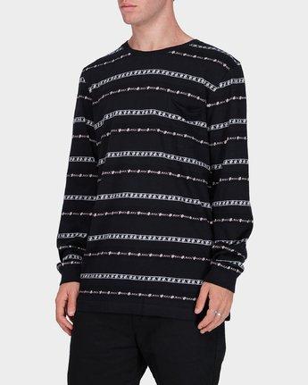 1 Oblow Rose Stripe Long Sleeve T-Shirt  R184097 RVCA