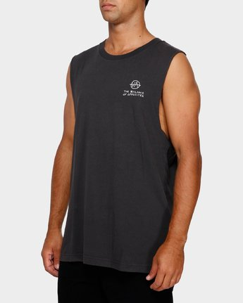 3 RVCA Split decision Muscle Black R191006 RVCA