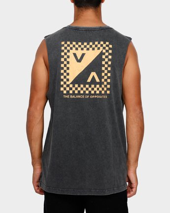 4 Check Mate Muscle T-Shirt  R191012 RVCA