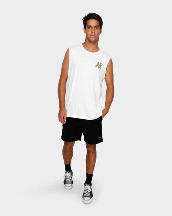 5 Jungle Muscle T-Shirt White R191013 RVCA