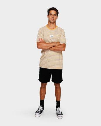 4 RVCA Focus Stripe T-Shirt Yellow R191049 RVCA