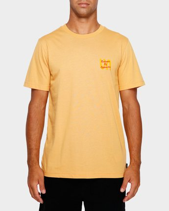 2 Throw Down T-Shirt Orange R191052 RVCA