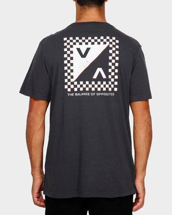 4 Check Mate T-Shirt Black R191057 RVCA