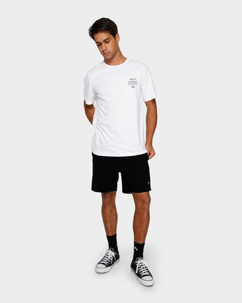 5 Va Shadow T-Shirt White R191059 RVCA