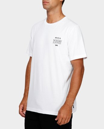 3 Va Shadow T-Shirt White R191059 RVCA