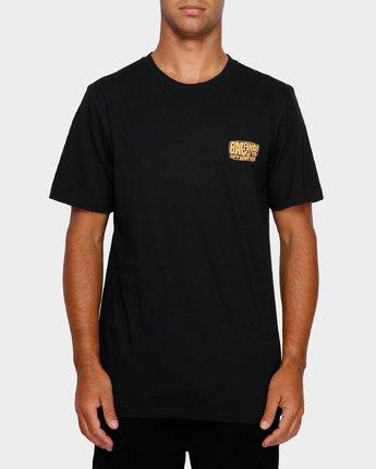 1 Stack Em High T-Shirt Black R191060 RVCA