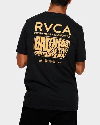 0 Stack Em High T-Shirt Black R191060 RVCA