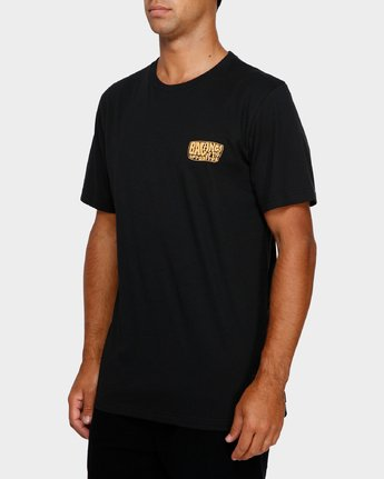 2 Stack Em High T-Shirt Black R191060 RVCA