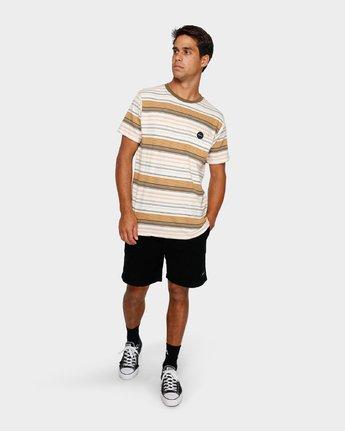 4 Deadbeat Stripe T-Shirt  R191064 RVCA