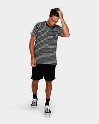4 Foz Stripe T-Shirt Black R191065 RVCA