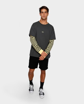 4 VA Lay Low Long Sleeve Tee Black R191093 RVCA