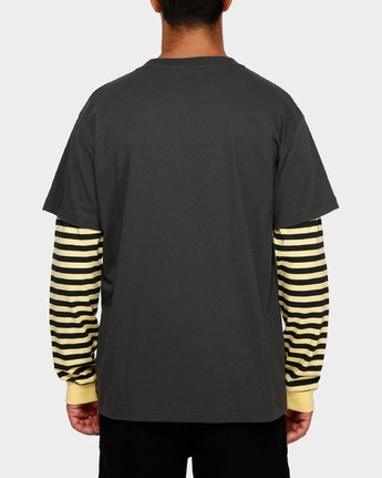 3 VA Lay Low Long Sleeve Tee Black R191093 RVCA