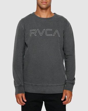 1 RVCA Pigment Crew Top Black R191151 RVCA