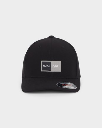 1 Warner Box Flexfit Cap Black R191569 RVCA