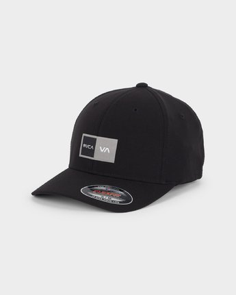 0 Warner Box Flexfit Cap Black R191569 RVCA