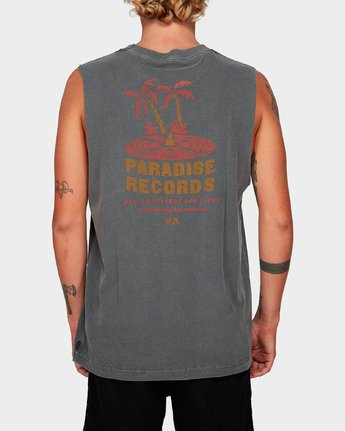 2 Paradise Records Muscle Black R192001 RVCA