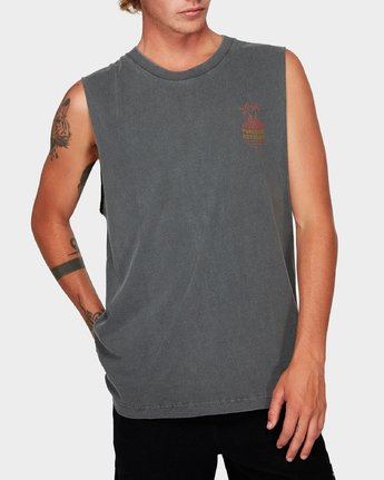 0 Paradise Records Muscle Black R192001 RVCA