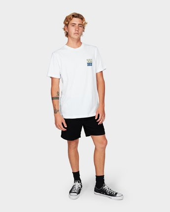 3 RVCA Unplugged Short Sleeve T-Shirt White R192041 RVCA