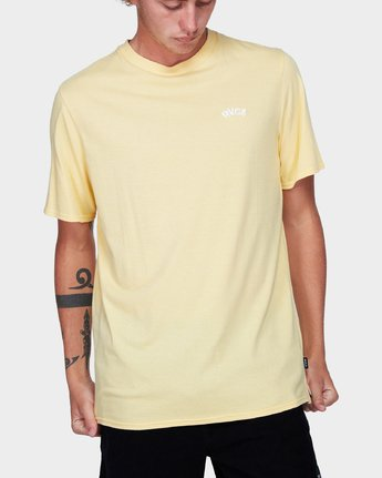 0 Offshore Short Sleeve T-Shirt Yellow R192042 RVCA