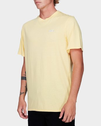 1 Offshore Short Sleeve T-Shirt Yellow R192042 RVCA