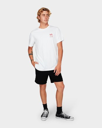 3 Down The Line Short Sleeve T-Shirt White R192043 RVCA