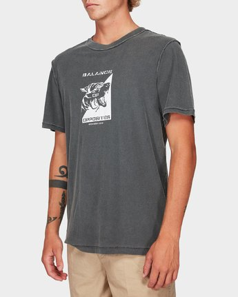 1 Beware Short Sleeve T-Shirt Black R192048 RVCA