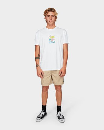 3 Stakes Is High Short Sleeve T-Shirt  R192051 RVCA