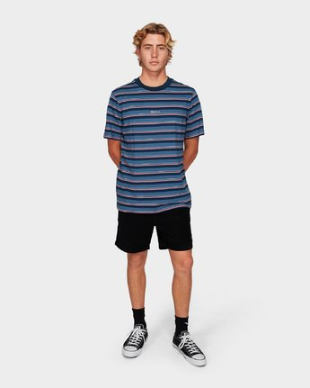 3 Curtis Stripe Short Sleeve T-Shirt Blue R192052 RVCA