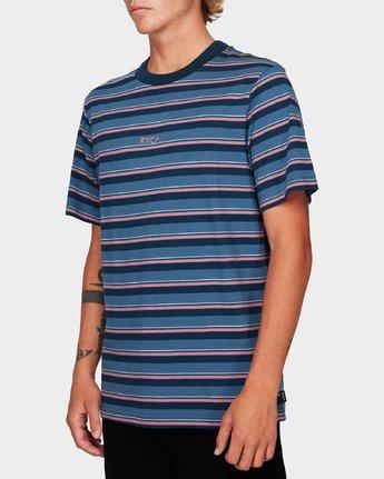 1 Curtis Stripe Short Sleeve T-Shirt Blue R192052 RVCA