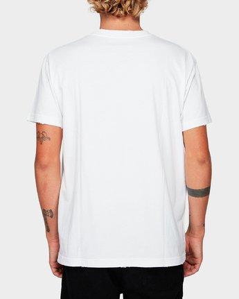 2 Hater Short Sleeve T-Shirt White R192054 RVCA