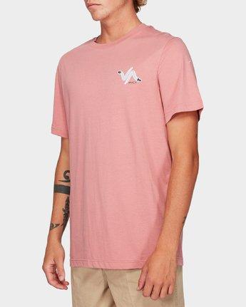 1 Snakey Snake Short Sleeve T-Shirt Pink R192055 RVCA