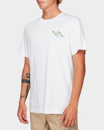 1 Snakey Snake Short Sleeve T-Shirt White R192055 RVCA