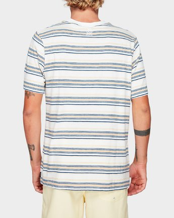 3 Southerly Stripe Short Sleeve T-Shirt White R192062 RVCA