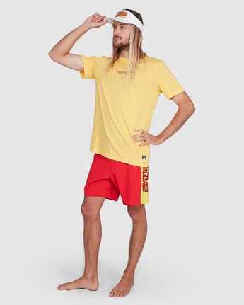 6 Chariot Of The Gods Short Sleeve Tee Yellow R192066 RVCA