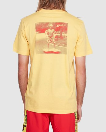 3 Chariot Of The Gods Short Sleeve Tee Yellow R192066 RVCA