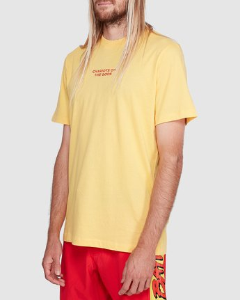 2 Chariot Of The Gods Short Sleeve Tee Yellow R192066 RVCA