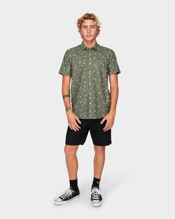 4 Jungle Dreams Short Sleeve Shirt Green R192183 RVCA