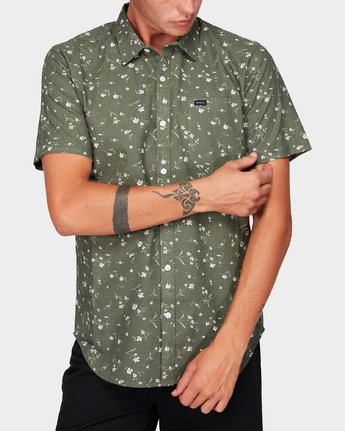 0 Jungle Dreams Short Sleeve Shirt Green R192183 RVCA