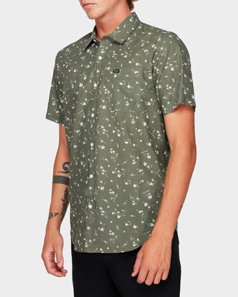2 Jungle Dreams Short Sleeve Shirt Green R192183 RVCA