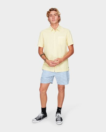 4 Paradiso Short Sleeve Shirt Yellow R192187 RVCA