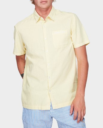 0 Paradiso Short Sleeve Shirt Yellow R192187 RVCA