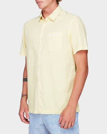 2 Paradiso Short Sleeve Shirt Yellow R192187 RVCA