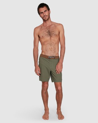 11 Va Trunk 17 Inch Short Green R192407 RVCA