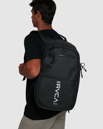 6 Rvca Down The Line Backpack Black R192451 RVCA