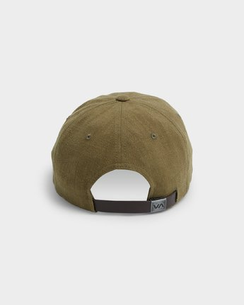 2 CRUSHED LINEN SNAPBACK Green R192566 RVCA