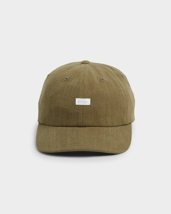 1 CRUSHED LINEN SNAPBACK Green R192566 RVCA